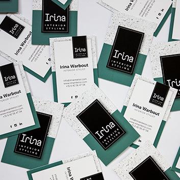 Irina Interior Styling - huisstijl voor startup onderneming interieur vormgeving.